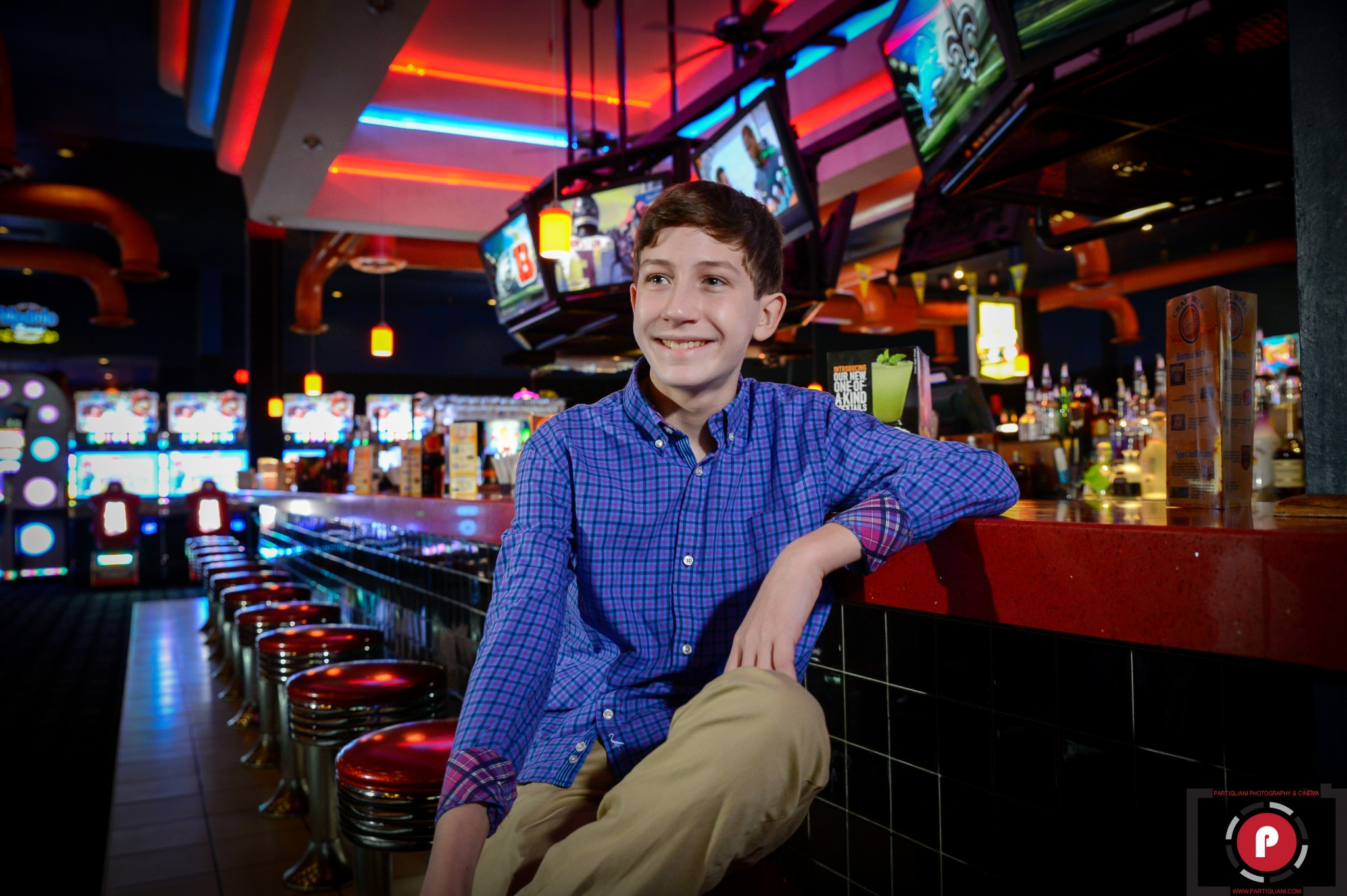 ZACHARY RUBIN BAR MITZVAH, B'NAI AVIV, DAVE AND BUSTER'S, ONE OF A KIND PARTY DESIGN. JAMMIN EXPRESS ENTERTAINMENT.
