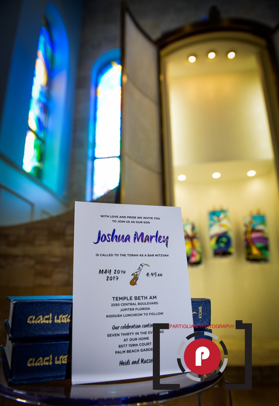TEMPLE BETH AM, JUPITER, PARTIGLIANI PHOTOGRAPHY, JOSHUA MARLEY BAR MITZVAH-1