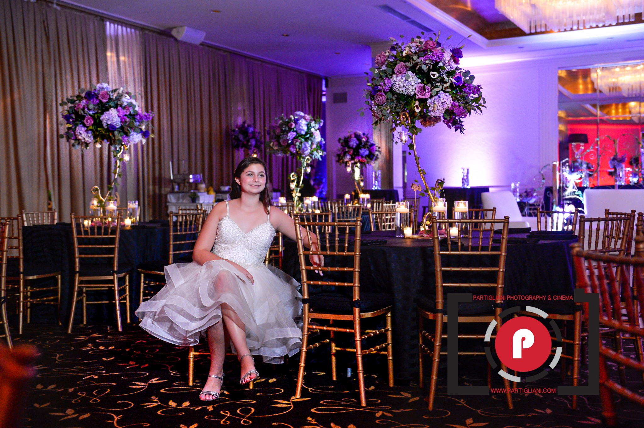 SARA PEARL ADLER BAT MITZVAH BY MONIK PARTIGLIANI, TEMPLE SOLEL, DALSIMER ATLAS FLORAL & EVENTS DECORATORS, PURE ENERGY ENTERTAINMENT, MC ALBERTO. ARTISAN FOODS